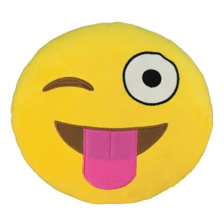 Emoji Pillow Silly Wink