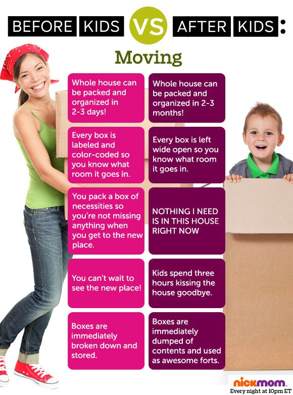 Moving changes so much after you have kids!