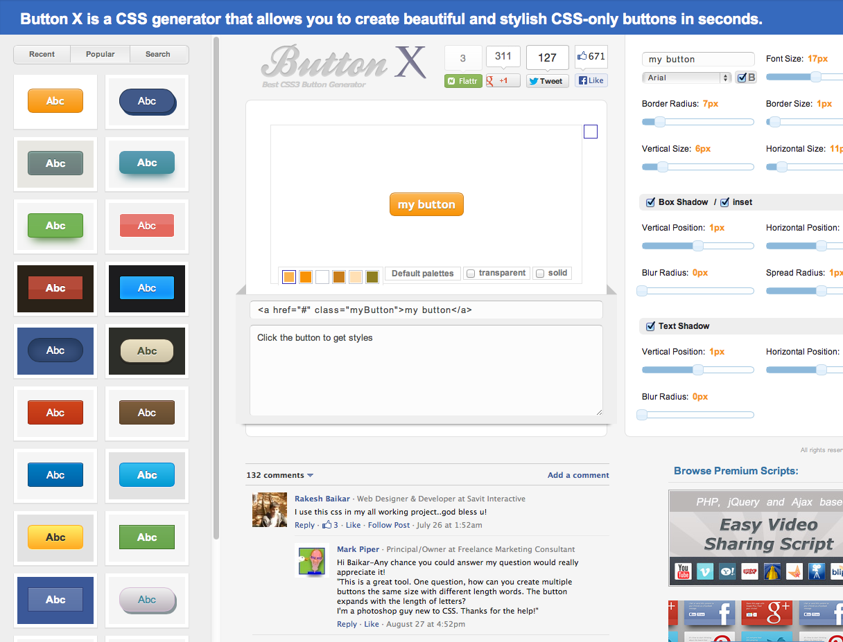 Pin By Chris Woodall On Css Buttons Tools Desktop Screenshot