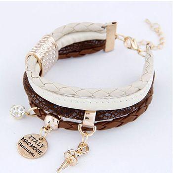 2014 new Design Free Shipping Fashion Women Bracelets Layered Charm Handmade Weave Bracelet hot selling