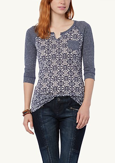image of Burnout High Low Raglan Top