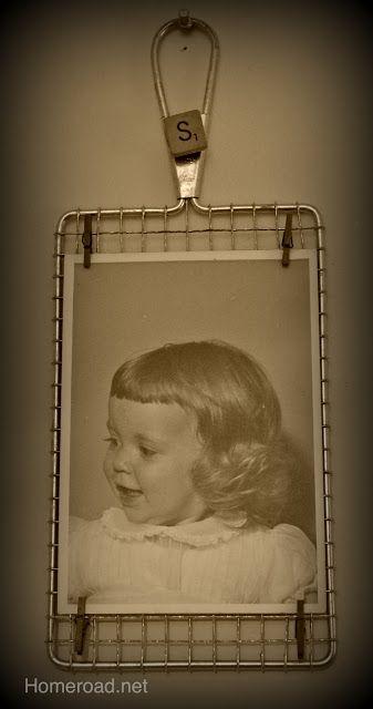 vintage grater to photo display