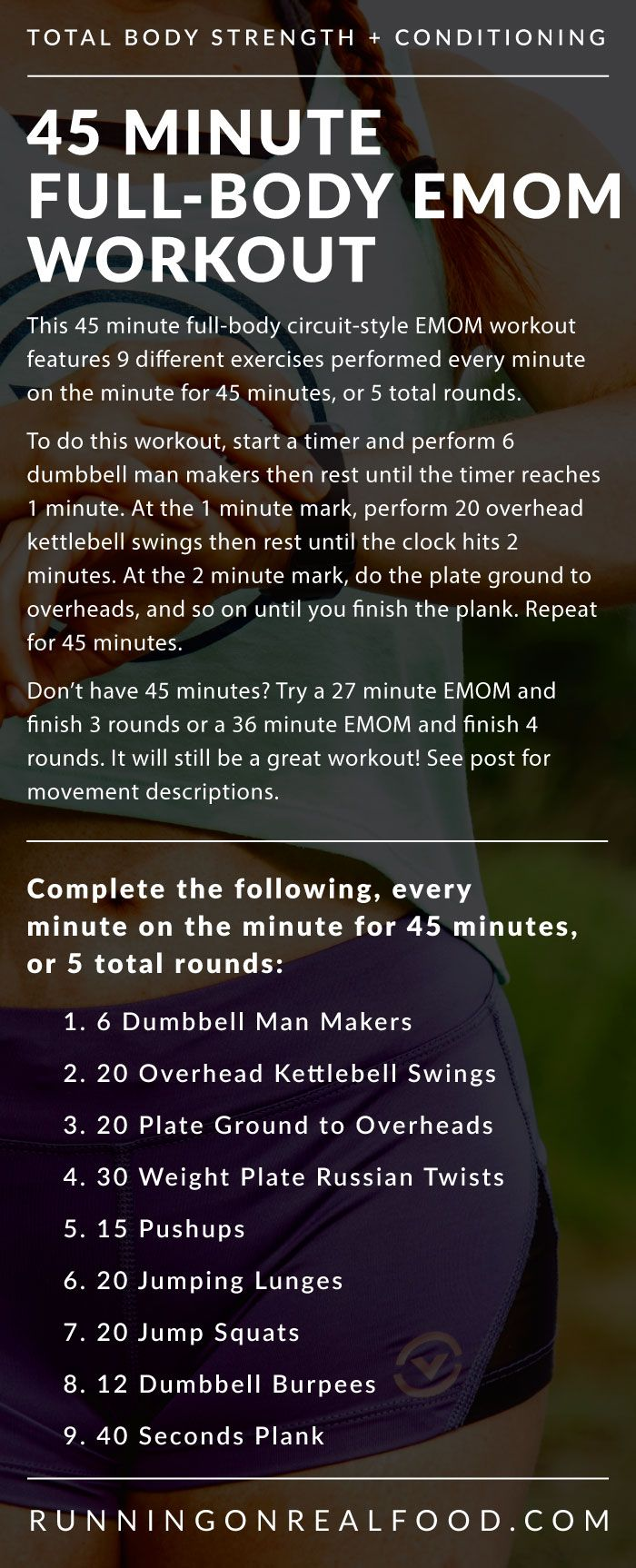 45 Minute Full-Body EMOM Workout