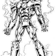 Iron man with his best armor Coloring page SUPER HEROES