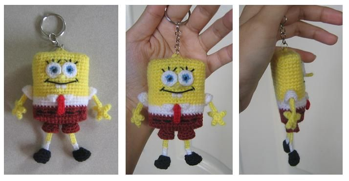 Amigurumi Crochet Keychain : Welcome to tdccrafts crochet spongebob keychain crochet
