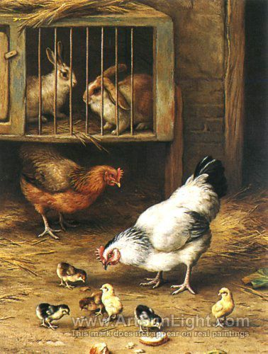 Chickens and Rabbits  by Edgar Hunt