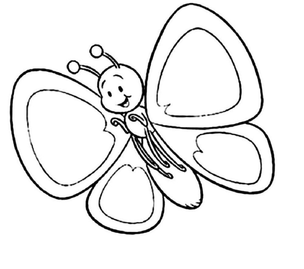 - Spring Coloring Pictures For Kindergarten Butterfly Coloring