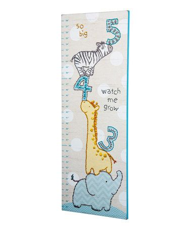 Love this Blue 'So Big' Growth Chart on #zulily! #zulilyfinds