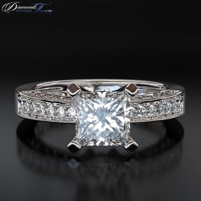 Très Bague de mariage en or blanc et diamant – Votre heureux blog photo  XG85