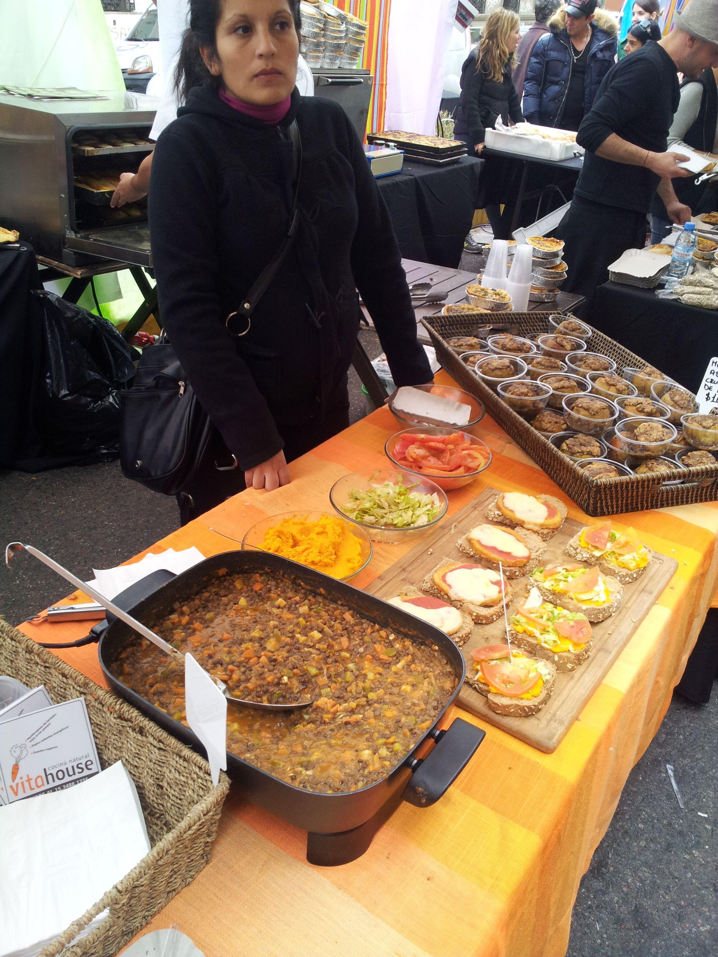 Guiso de Lentejas. Buenos Aires Market. San Telmo. Buenos Aires. Argentina.
