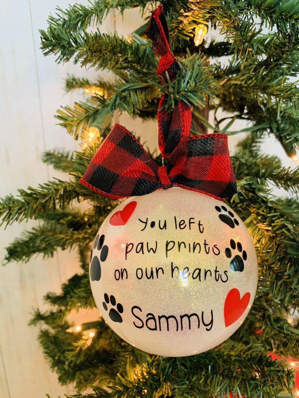 pet loss memorial ornament, personalized pet ornament, in