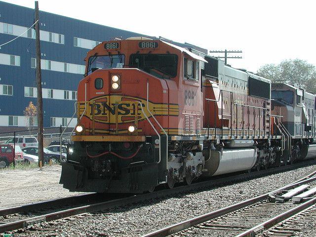 BNSF #8861 (EMD SD70MAC)   Trains   Train, Vehicles