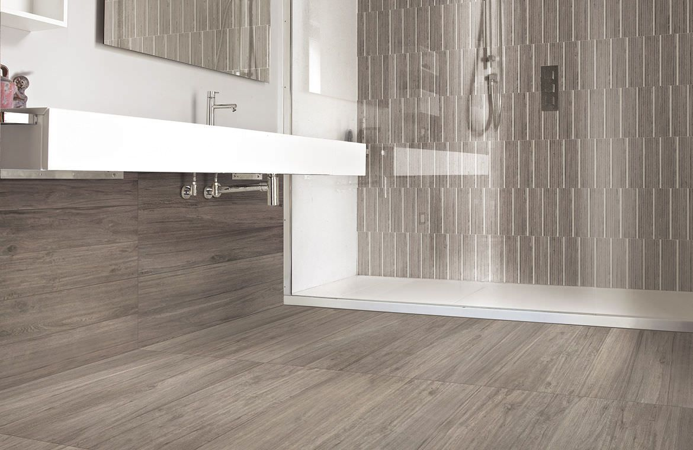 porcelain stoneware floor tile wood look fusion ixo grey rh pinterest com