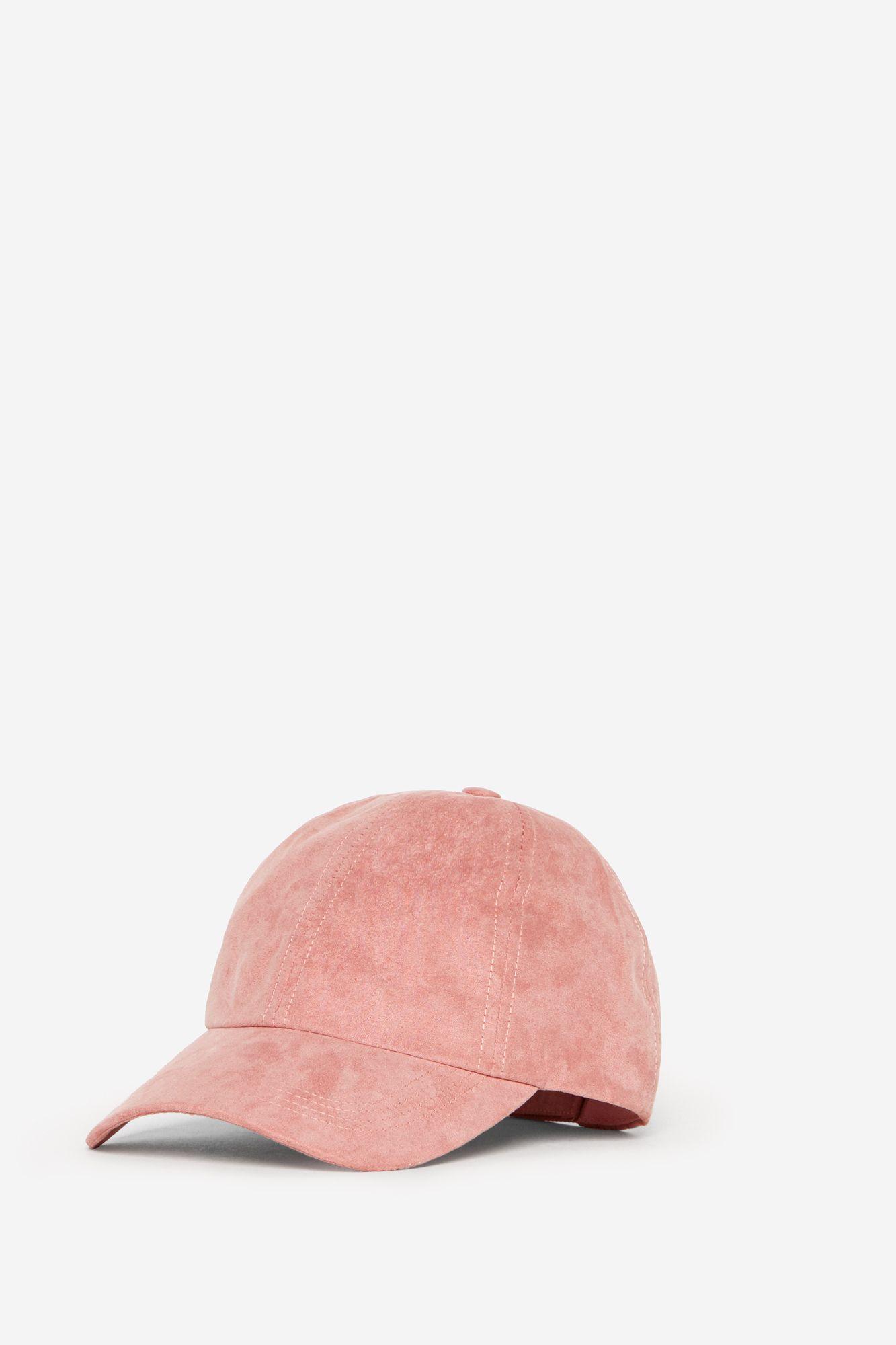 Gorra rosa efecto ante.  d69d3ecc846