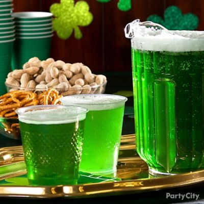 Make a classic classy by serving green beer in a party for Pitcher drink recipes for parties