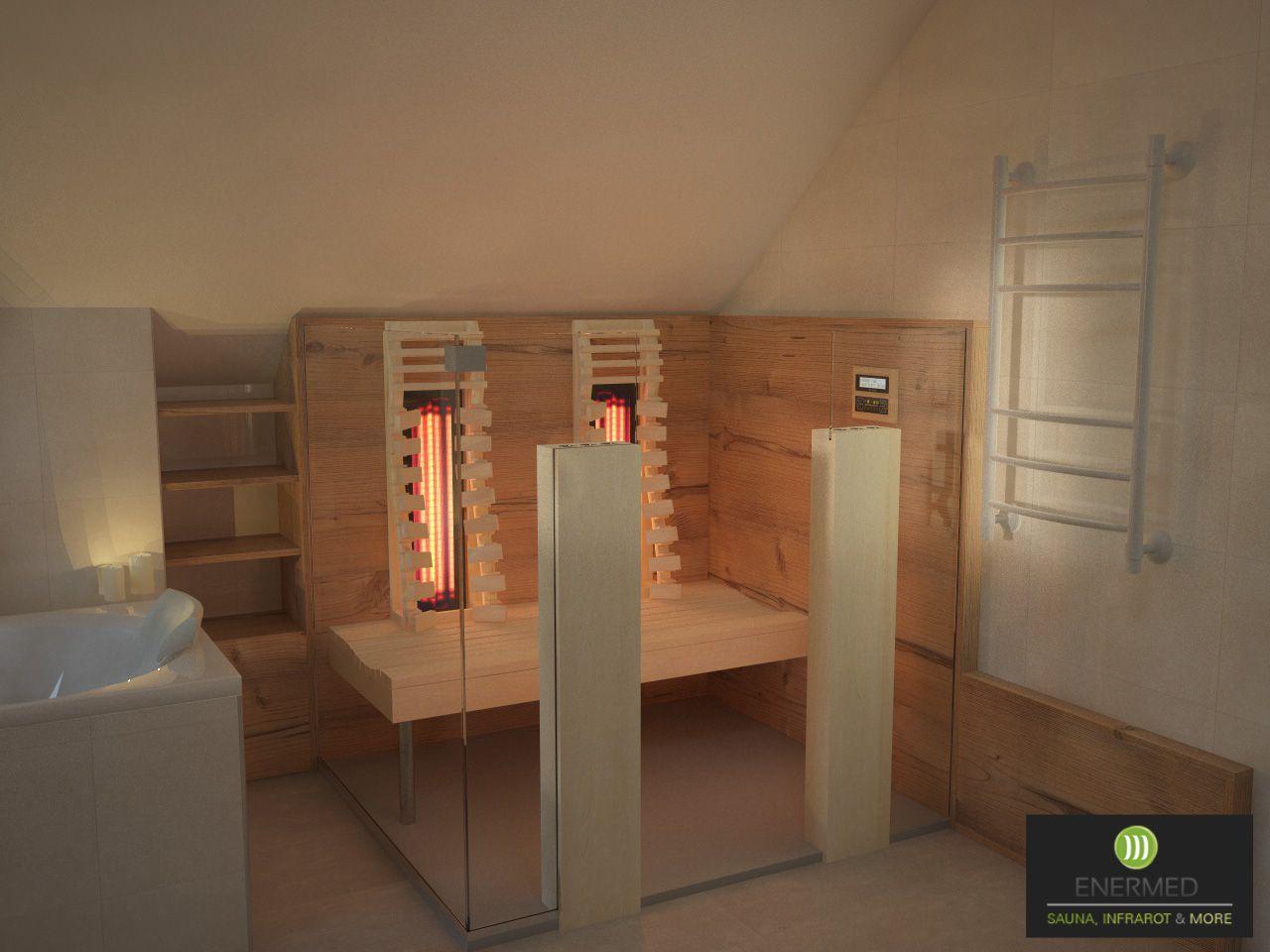 Infrarotkabine im Badezimmer  Infrarotkabine nach Maß  Moderne