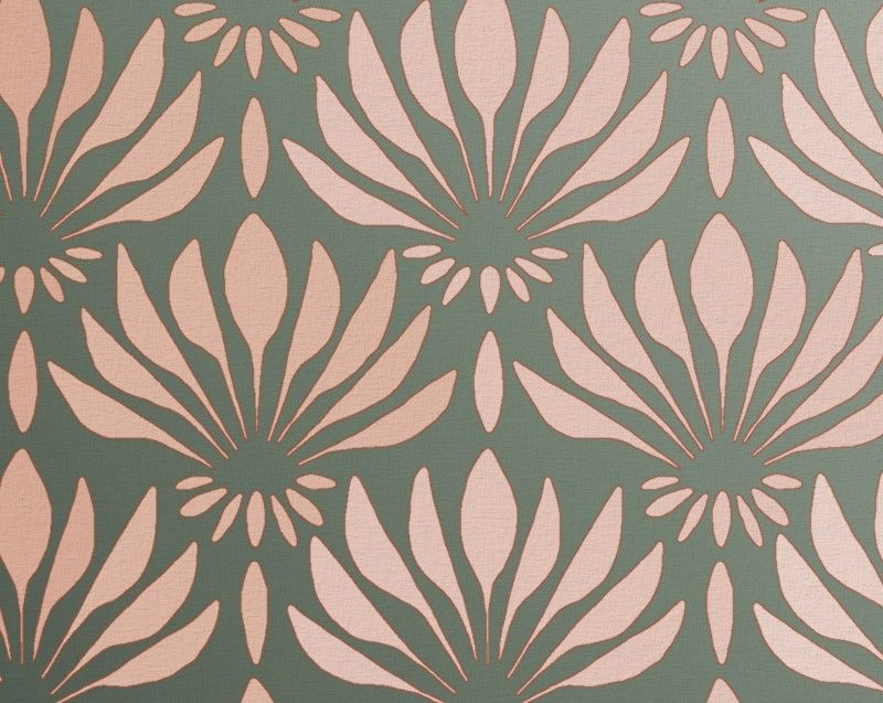 """STENCIL for Walls - Art DECO Pattern """"Fan Flowers"""" - Large Allover Wall Stencil - Reusable, Easy DIY Home Decor de OliveLeafStencils en Etsy https://www.etsy.com/es/listing/67321567/stencil-for-walls-art-deco-pattern-fan"""