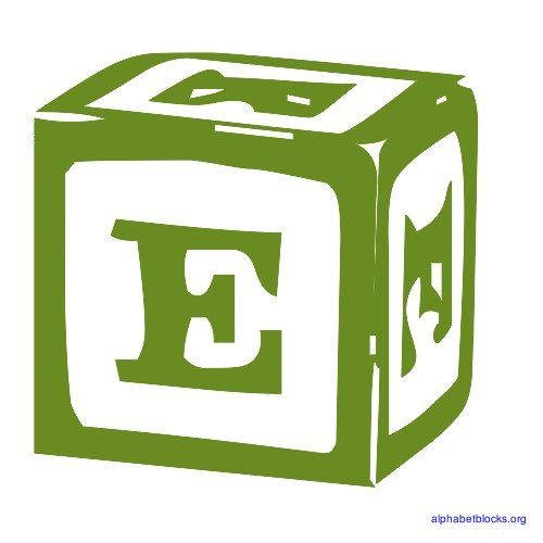 Building Block  Letter E  The Letter E    Block