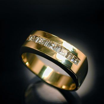 baguette mens ring - Google Search