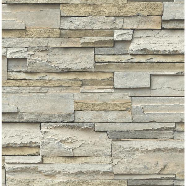 Nuwallpaper Stone Slate Peel And Stick Wallpaper Roll Nu2675 The Home Depot Wallpaper Huis Interieur Design Huis Interieur