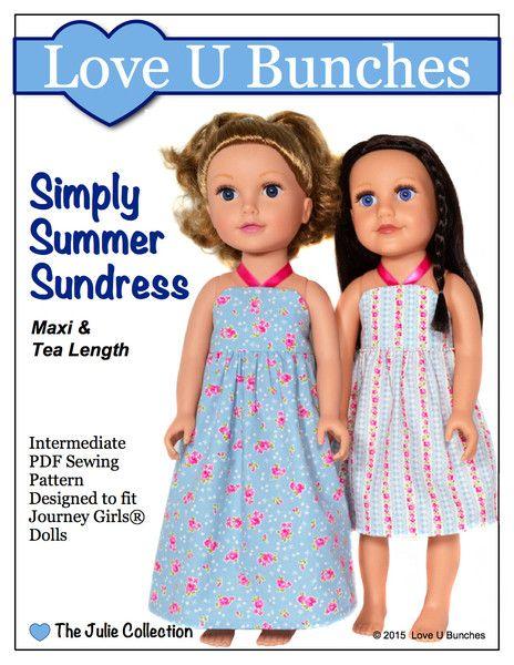 Simply Summer Sundress Pattern for Journey Girls Dolls