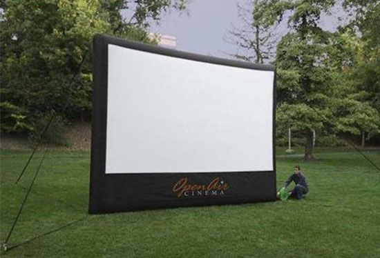 Inflatable Outdoor Movie Screen Rental | White Knight Party Rentals