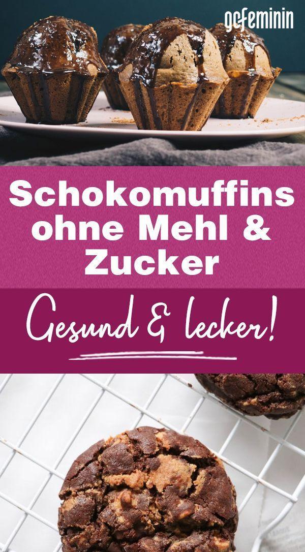 Gesunde Schokomuffins ohne Mehl & Zucker: Tolles Rezept – Jettie&Kuchenrezepte2020 – Carey&CleanEatingS