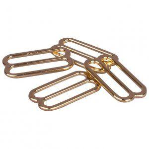 1//2 or 13mm 1 Set Porcelynne Tan Nylon Coated Metal Bra Strap Rings and Sliders