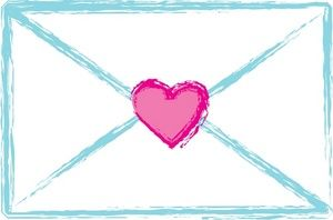 Love Letter Clipart Image A White Envelope Sealed With A Pink Heart