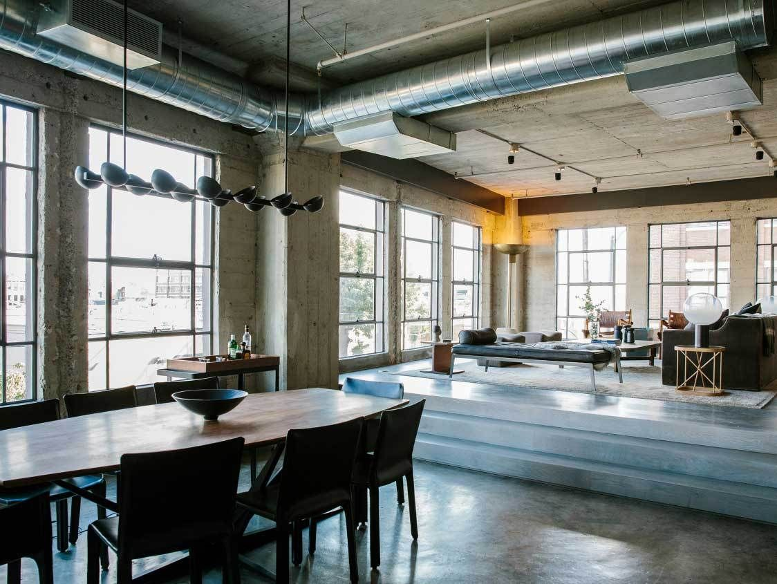 Stunning Industrial Loft From Downtown La Loft Design Loft Interiors Loft Apartment Industrial