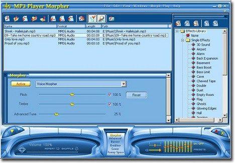 AV MP3 Player Morpher free download latest version for Windows PC
