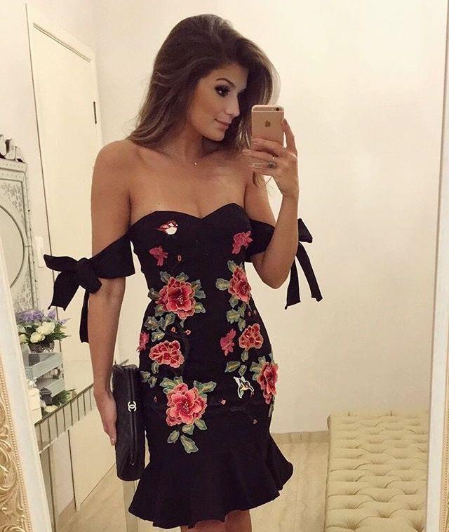 Vestidos de noche manga campesina