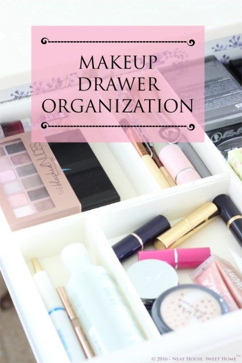 Makeup Drawer Organization  Week 4 is part of Makeup Drawer Organization - Week 4 of 52 is here and the assignment is makeup drawer organization  Toss old makeup, clean your brushes, sort the things you are keeping and decorate