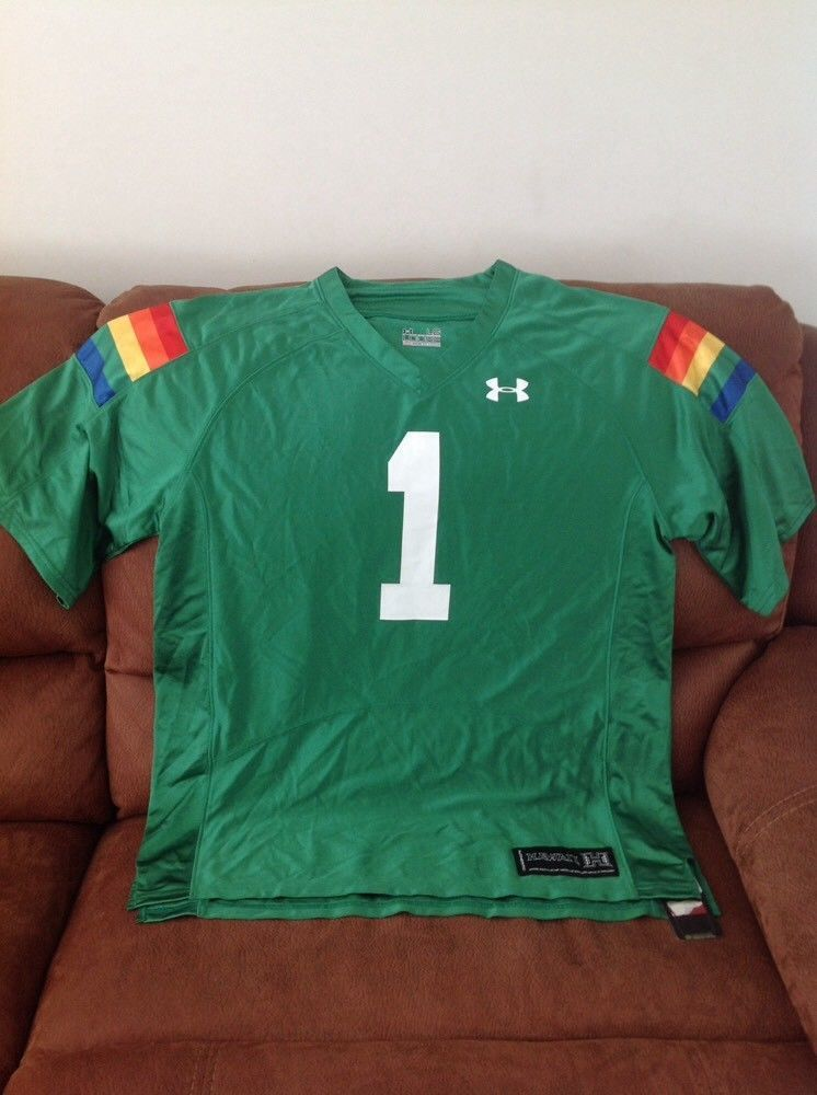 344b2e609b9 under armour hawaii warriors ncaa football jersey NWT size L mens ...