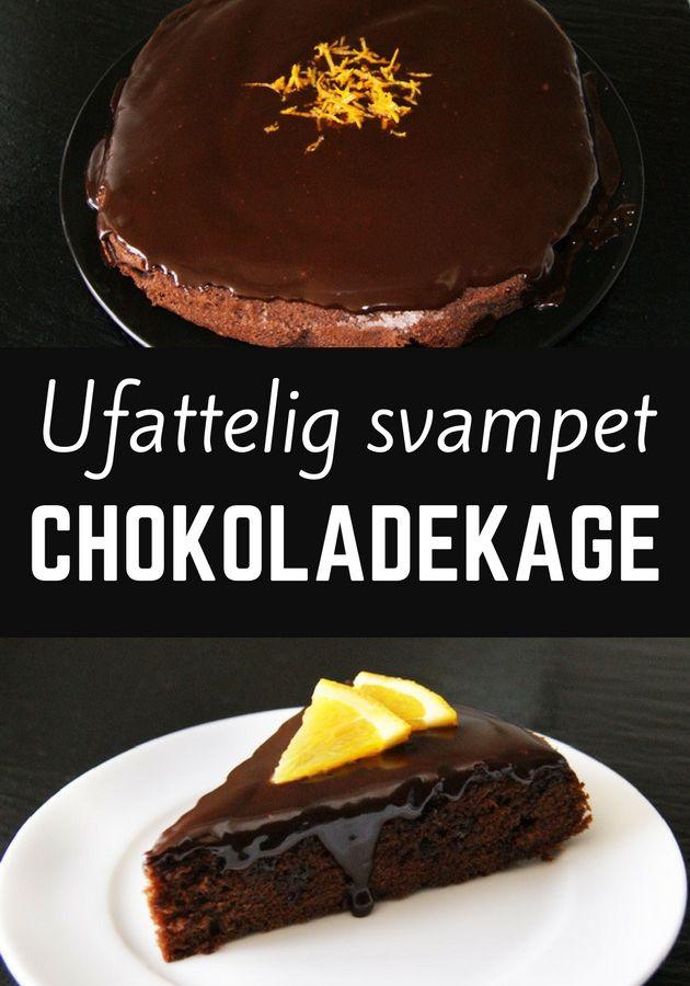 Sindssygt god chokoladekage med en dejlig svampet konsistens og en skøn glasur på toppen.