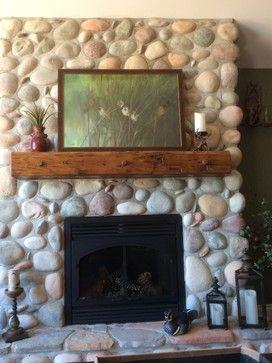 Should I Put A Shinny Sealant On My River Rock Fireplace Rock Fireplaces River Rock Fireplaces Fireplace