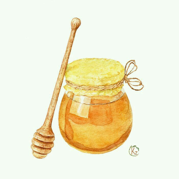 Pin By Tat On Bees Honey Art Food Painting Food Drawing