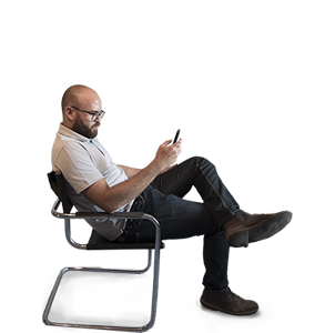 High Res Free People Cutouts Man Sitting On Chair Side View People Png People Cutout Drawing People