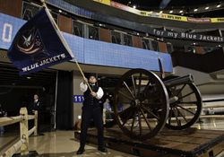 The NHL's Columbus Blue Jackets fire a cannon after goals. Here's the story behind its creation.
