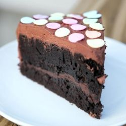 This is the easiest, most delicious chocolate cake I've ever eaten.