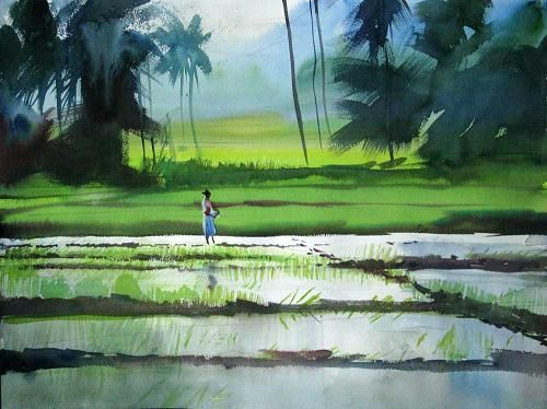 Milind Mulick Is Famous For His Amazing Watercolor Paintings Watercolor Landscape Paintings Famous Landscape Paintings Watercolor Landscape