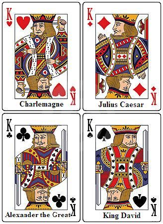Each King In A Deck Of Playing Cards Represents A Great King From