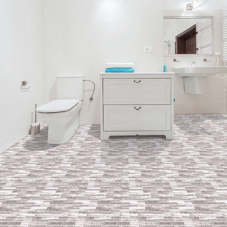 Perfection Floor Tile Master Mosaic 6-Piece 20-In X 20-In Castle ...