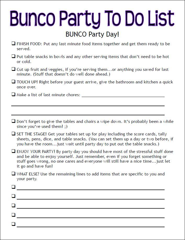 Bunco Rules For Dummies