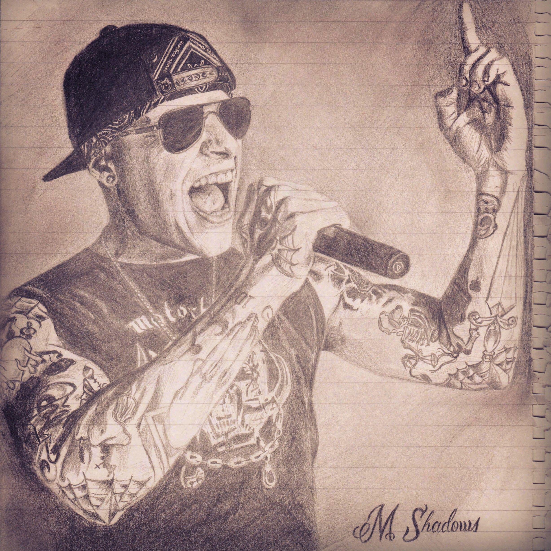 Av av avenged sevenfold tattoo designs - M Shadows Avenged Sevenfold A7x Drawing