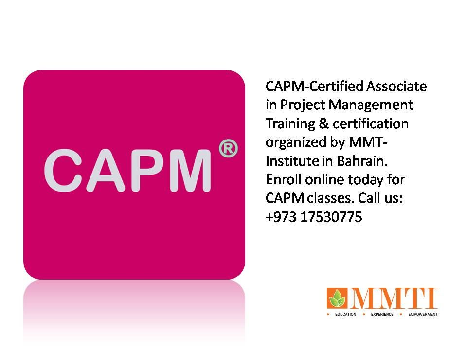 Capm Certified Associate In Project Management Training