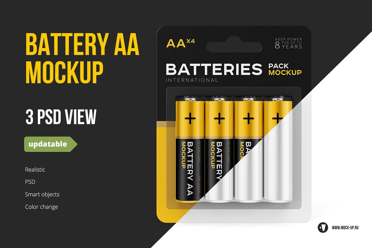 Download Battery Aa 3in1 Mockup Mockup Mockup Templates Mockup Design PSD Mockup Templates
