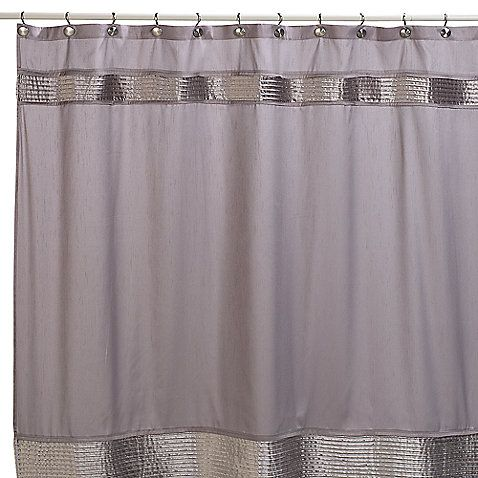 Nicole Miller® Willow 72 Inch X 72 Inch Fabric Shower Curtain In Grey