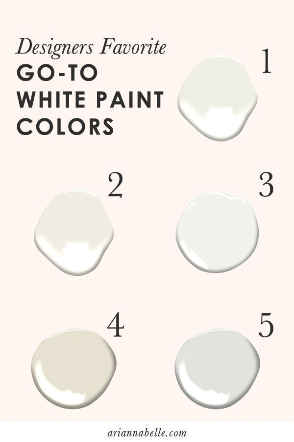 Arianna Belle The Blog: Designers Favorite Go-to White Paint Colors