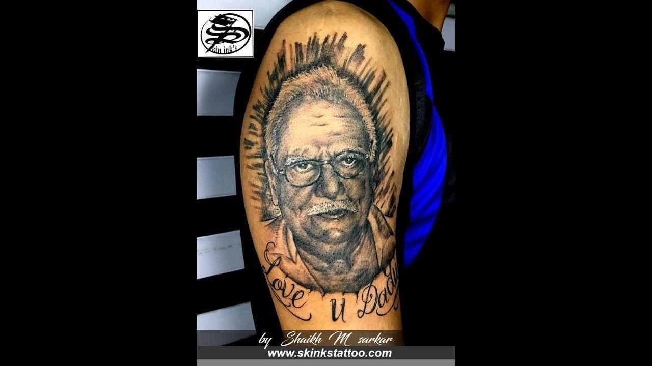 9b7b8ab59c20b Portrait tattoo l by Shaikh M sarkar l Timelapse #3 | Tattoo time ...